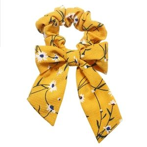 2 in 1 Scrunchie Bow Ribbon Scarf Hairbow